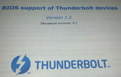 Thunderbolt Specification